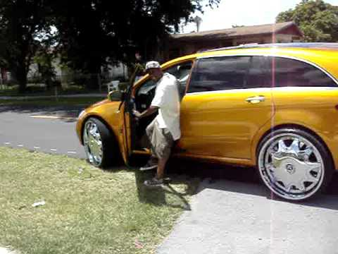 Classic Cadillac For Sale >> 2007 CANDY GOLD BENZ RX350 AND CHEVY DONK VERT RIPPIN DA STREETS - YouTube