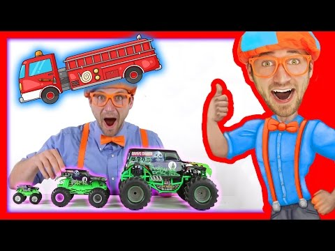 Thumbnail: Monster Truck Toy and others in this videos for toddlers - 21 minutes with Blippi Toys