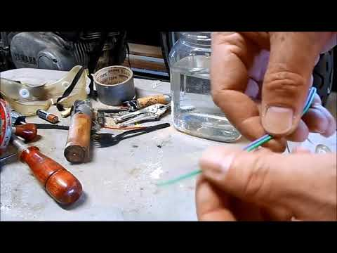 How to Remove Rust with from metal and tools DIY Electrolysis process for motorcycles and auto parts