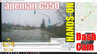 apeman C550 Test: Dash Cam & GPS mouse analyze with viewer - Fro...