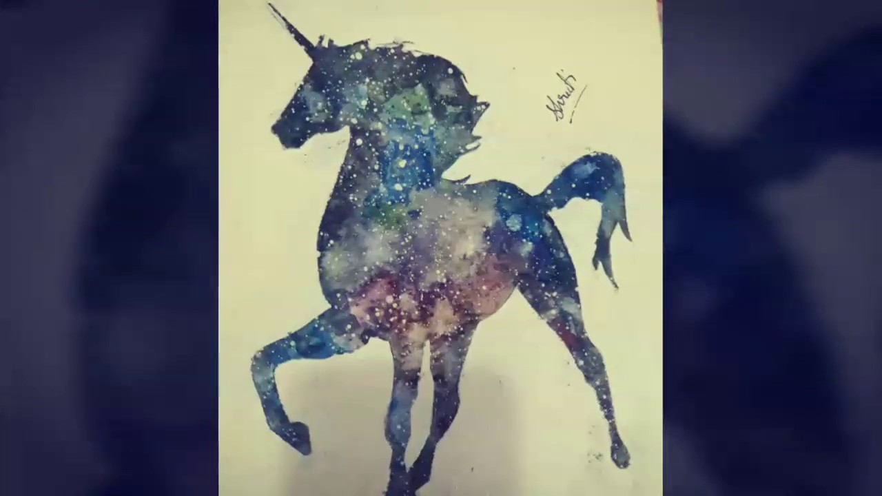 How To Paint A Galaxy Unicorn Diy Easy For Beginners