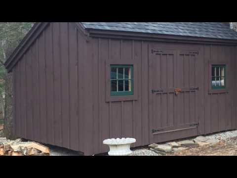 10x16 Salt Box Vermont Post & Beam Jerry's Shed