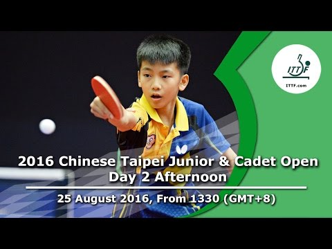 2016 ITTF Chinese Taipei Junior & Cadet Open - Day 2 Afternoon