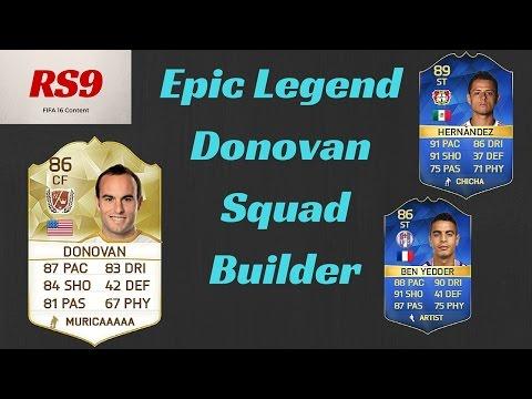 Legend Landon Donovan Squad Builder   FIFA 16