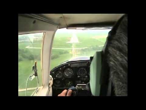 Landing at Tatri airport Poprad Slovakia LZTT