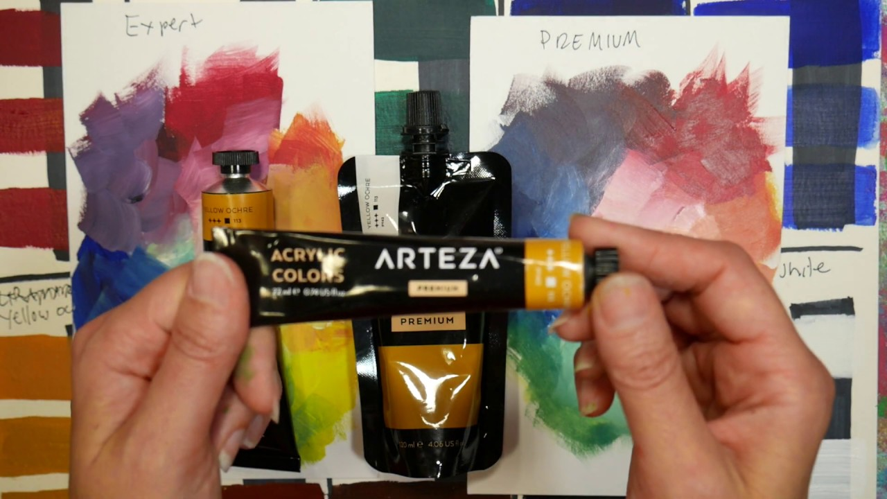 Pro Vs Student Paint Comparing Arteza Expert Acrylics To Premium