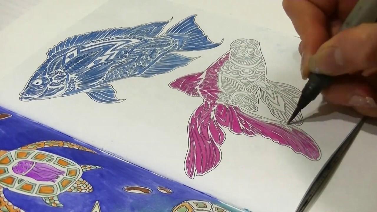 РАСКРАСКА-АНТИСТРЕСС   Морские обитатели   Coloring ...