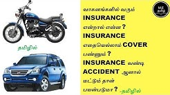 What Is Insurance In Car And Bike? Explained In Tamil(தமிழில்)