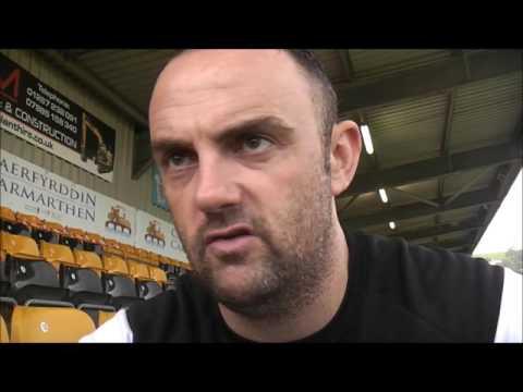 Chris Hughes reacts to Carmarthen loss