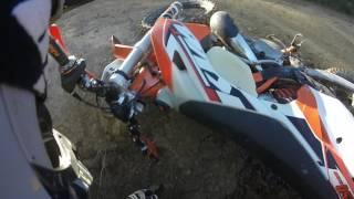 2017 Haspin Acres... Trail Crevace Crash on KTM 250 XCW