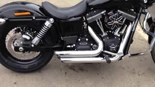 2014 Harley Davidson Dyna Street Bob FXDB Vance and Hines Shortshots w/ Std buffle