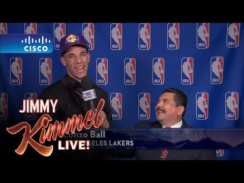 Jimmy Kimmel Talks to LA Lakers #2 NBA Draft Pick Lonzo Ball