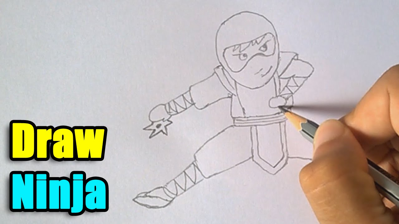 How to draw a ninja youtube ccuart Gallery