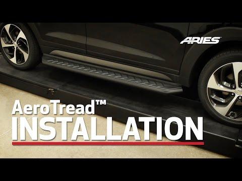 ARIES AeroTread Install 5 Running Boards on 2016 Hyundai Tucson Bracket 2051162