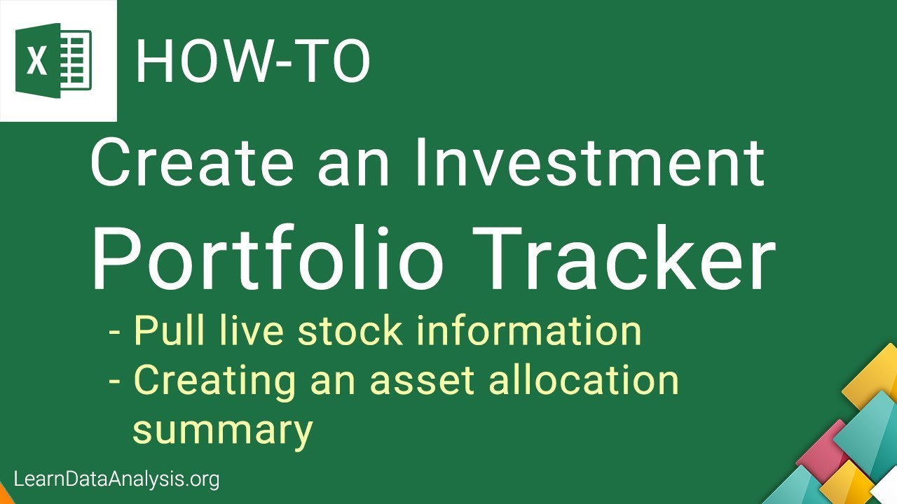 Create An Excel Investment Portfolio Tracker Template Excel Tutorial Youtube