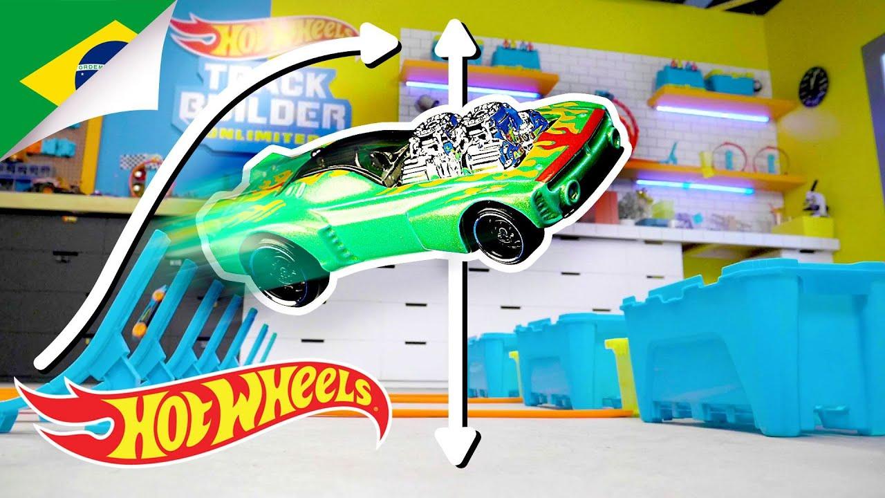 Quão longe o Hot Wheels pode voar? | Labs Unlimited | Hot Wheels Português