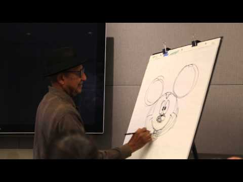 Disney Legend Flloyd Norman sketches Mickey Mouse