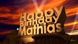 Happy Birthday Mathias