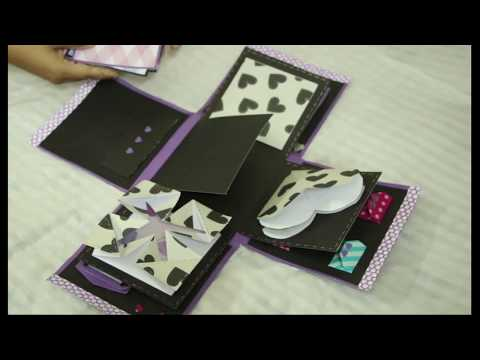 Exploding Box - DIY | Valentines Day or Anniversary Gift Idea | paper craft | Gift Box Crafting