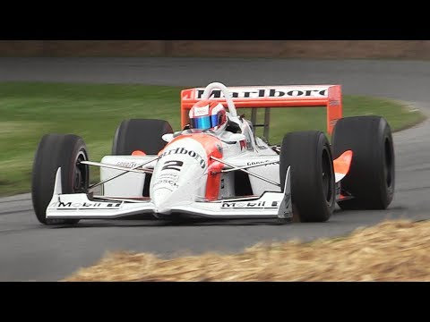Penske PC-22 CART Monster In Action on a Tight Course - Chevrolet Indy V8 Turbo Sound!