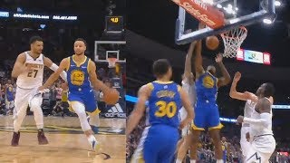 Stephen Curry Gives Up Game Winner To Jones Who Gets Blocked By Hernangomez! Warriors vs Nuggets