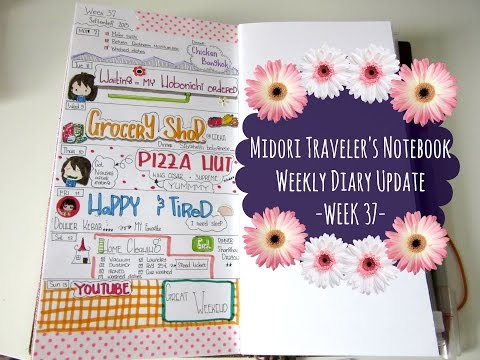 Midori Traveler's Notebook- Diary Weekly Update-WEEK 37-