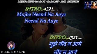Mujhe Neend Na Aaye Karaoke With Scrolling Lyrics Eng. & हिंदी