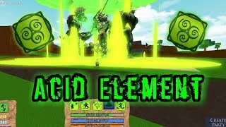 *[NEW]* ACID ELEMENT!!!   Roblox Elemental Battlegrounds