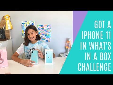 IPHONE 11 IN WHAT'S IN THE BOX CHALLENGE GOT ME BY SURPRISE