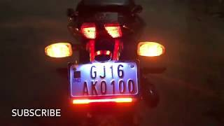 Installed Flexible Led Strip Tail Light Brake Light With Turn Signal For Pulsar 220