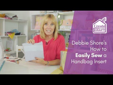 Debbie Shore Sewing Tutorial: How to Sew a Handbag Insert