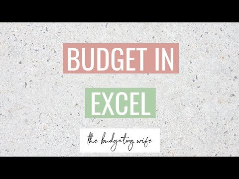 HOW TO BUDGET IN EXCEL | USING MY EXCEL BUDGET TEMPLATE TUTORIAL