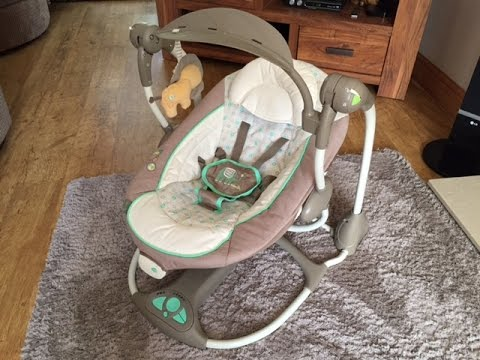 Baby Swing Vibrating Chair Combo Camel Leather Ingenuity Convertme 2 Seat Review 2015 Youtube