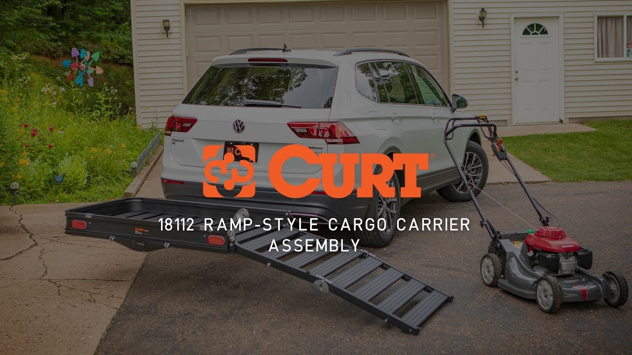 cargo carrier assembly curt 18112 aluminum ramp style cargo carrier