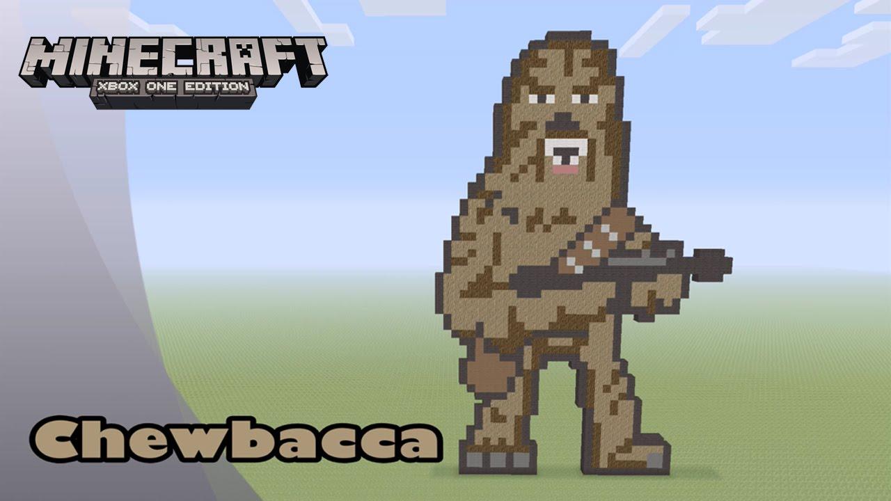 Minecraft Pixel Art Tutorial And Showcase Chewbacca Star Wars