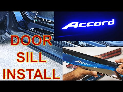 HOW TO Install HONDA Accord LED Door Sills (EASY) - YouTube