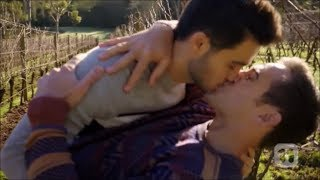 David and Aaron kiss scene 2 ep 7929