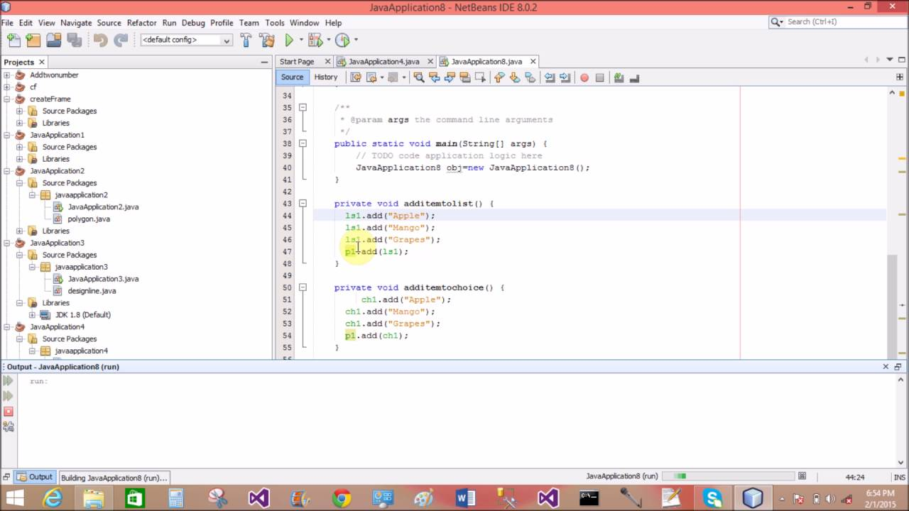 Create List and Choice in AWT Java - YouTube