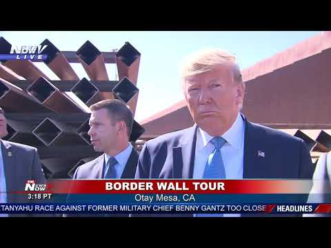 BORDER WALL TOUR: President Trump Unveils NEW Border Wall - Otay Mesa, California