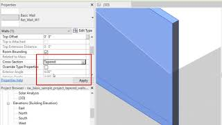 Revit 2022: Tapered Walls