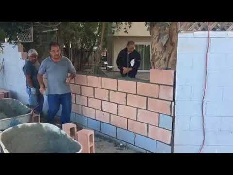Van Nuys Block Wall Repair by Crown Construction 818-974-3210