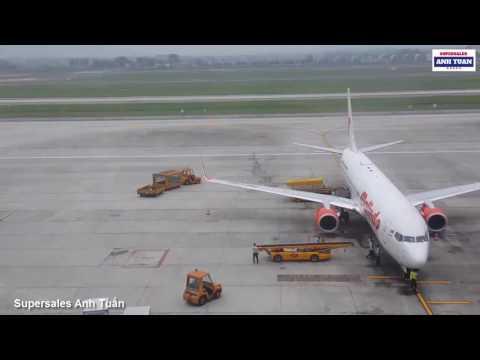 NGẮM MÁY BAY CẤT CÁNH TẠI SÂN BAY QUỐC TẾ NỘI BÀI   AIRPLANE SIGHTSEEING IN AN INTERNATIONAL AIRPORT