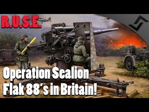 R.U.S.E. - Operation Sealion - Flak 88's in Britain! - Operations Gameplay