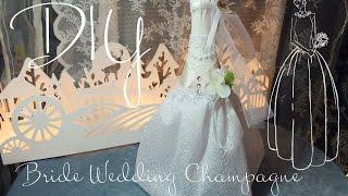 Bride - wedding champagne bottle covers\ невеста -декор бутылки шампанского