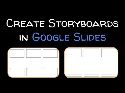 How to create a storyboard with google slides youtube for Table design google slides