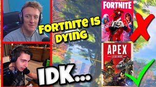 Shroud Reacts to Tfue and Fortnite Dying from Apex Legends | Apex Legends Highlights #11