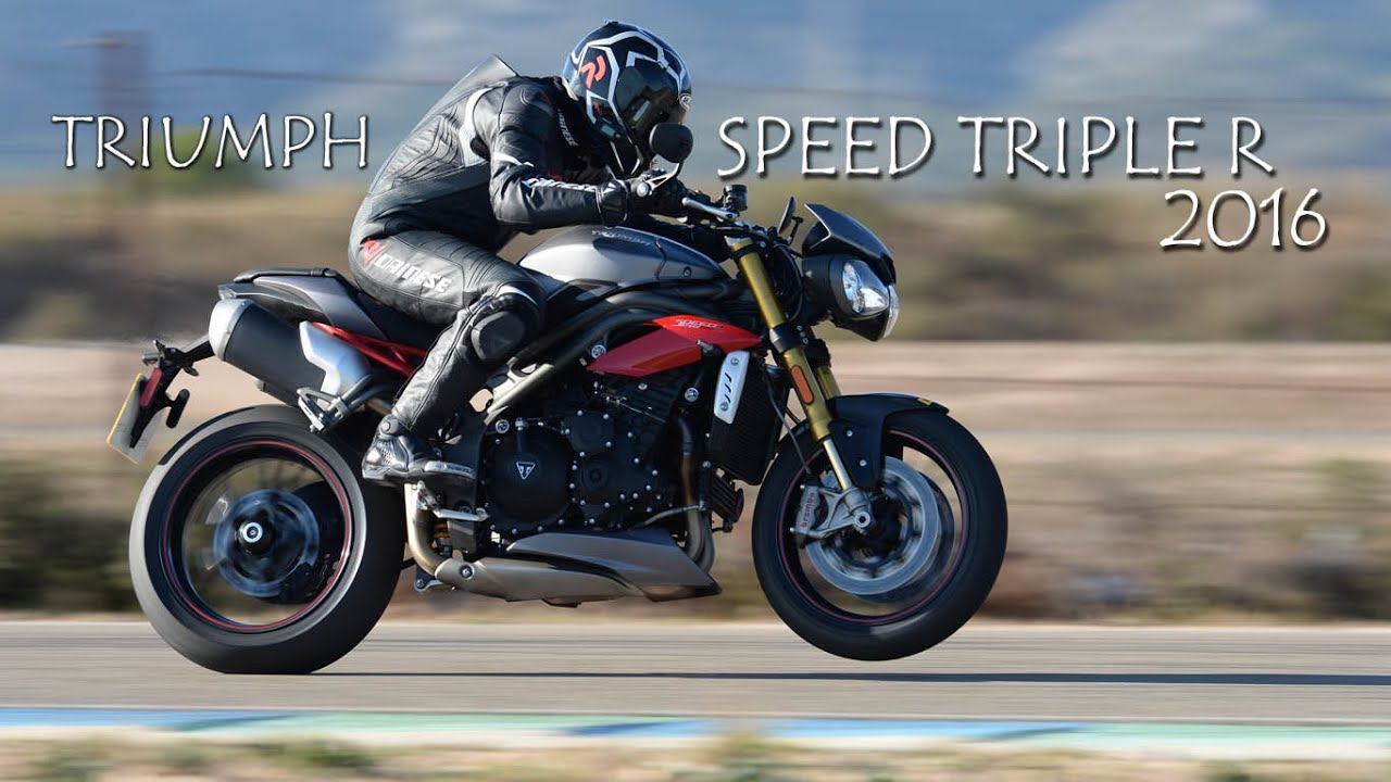 prueba triumph speed triple r 2016, test moto1pro - youtube