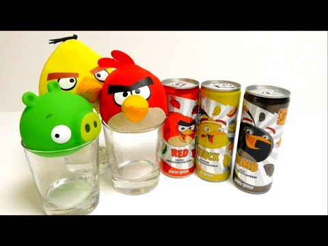 Angry Bird NEW Soft Drinks - Tropical, Orange & Cola Flavor
