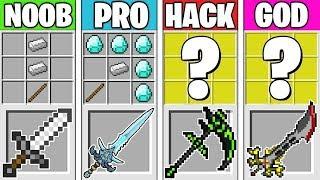 Minecraft Battle: SUPER SWORD CRAFTING! NOOB vs PRO vs HACKER vs GOD in Minecraft Animation
