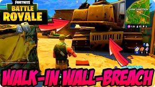 Fortnite Battle Royale Glitches: Easy Walk-In Wall-Breach Glitch At Junk Junction